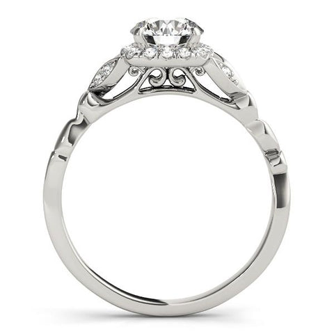 Floral Halo Engagement Ring Setting (6.5mm) - Moijey Fine Jewelry and Diamonds