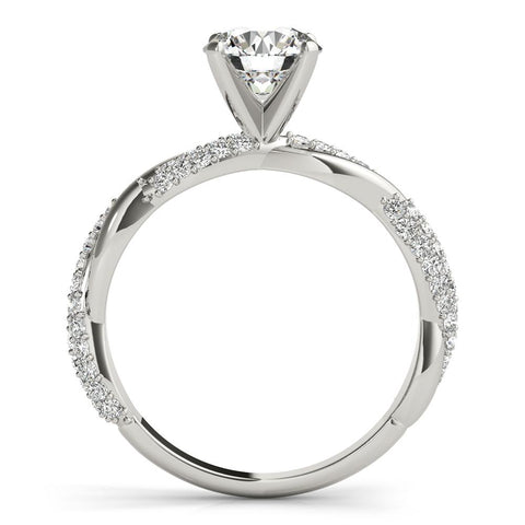 Infinite Pave Engagement Ring | Designer Engagement Ring | Diamond Ring