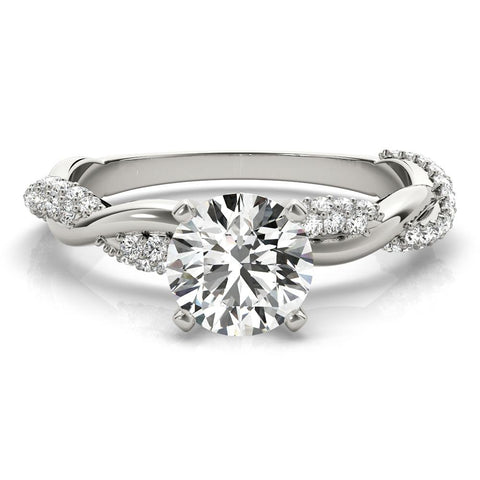 Infinite Pave Engagement Ring Setting - Moijey Fine Jewelry and Diamonds
