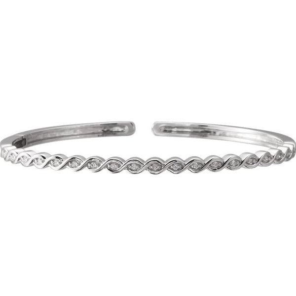 Twisted Diamond Bangle Bracelet - Moijey Fine Jewelry and Diamonds