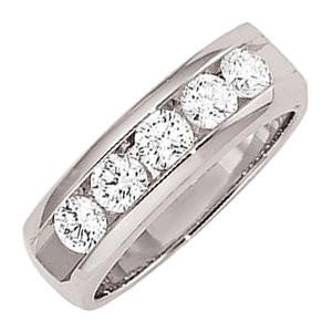 14kt Gold 1 CTW 5-Stone Diamond Ring