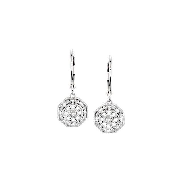 Sterling Silver .07 CTW Diamond Earrings