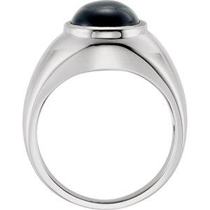 Sterling Silver Bezel-Set Onyx Ring - Moijey Fine Jewelry and Diamonds