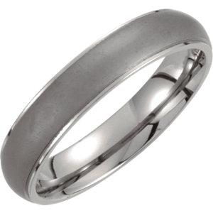 oxidized titanium ring | titanium oxidized center band | titanium ridged center band