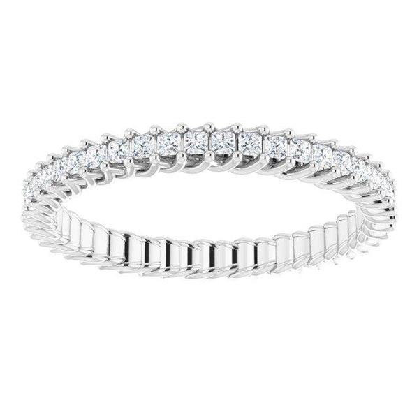 Elegant Princess-Cut Eternity Ring