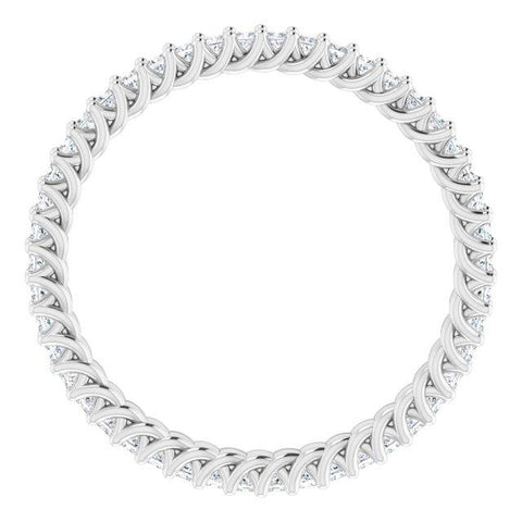 Elegant Princess-Cut Eternity Ring - Moijey Fine Jewelry and Diamonds
