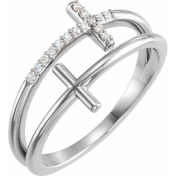 14K.White Gold with.06 ctw Diamond Ring - Moijey Fine Jewelry and Diamonds