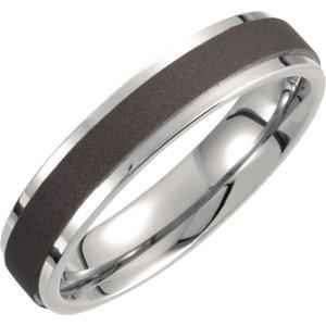 Titanium 5mm Oxidized Flat Band - Moijey Fine Jewelry and Diamonds