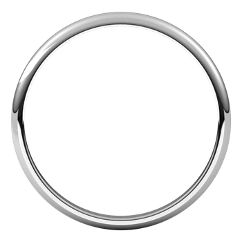2mm Half Round Lightweight Band