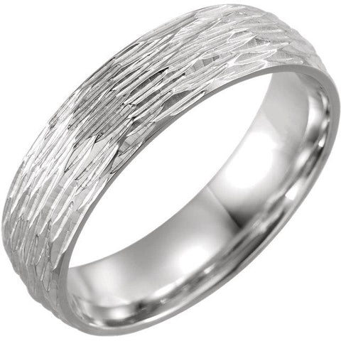 Tree Bark Patterned Comfort-Fit Band - Moijey Fine Jewelry and Diamonds