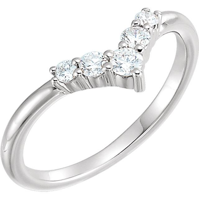 "1/4 CTW Diamond Graduated ""V"" Ring"