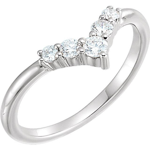 "1/4 CTW Diamond Graduated ""V"" Ring - Moijey Fine Jewelry and Diamonds"