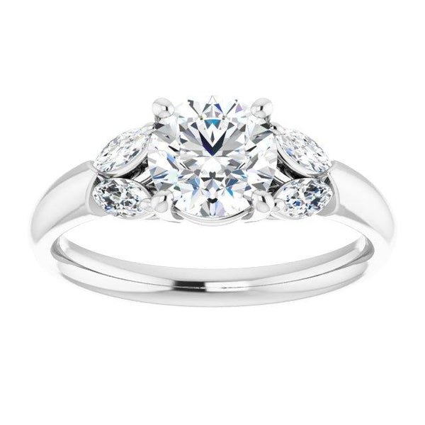 Vintage Round Engagement Ring Setting