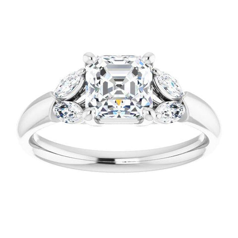 Vintage Asscher Engagement Ring Setting