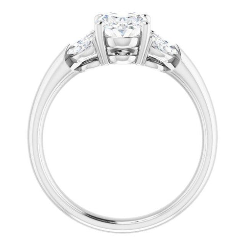 Vintage Oval-shaped Engagement Ring Setting