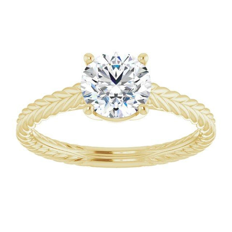 Braided Round Solitaire Engagement Ring Mounting