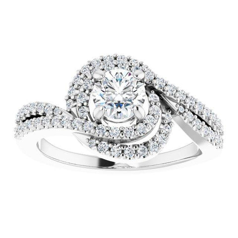 Pave Twist Style Engagement Ring - Moijey Fine Jewelry and Diamonds