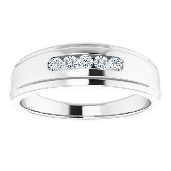 1/4 CTW Diamond 5-Stone Band
