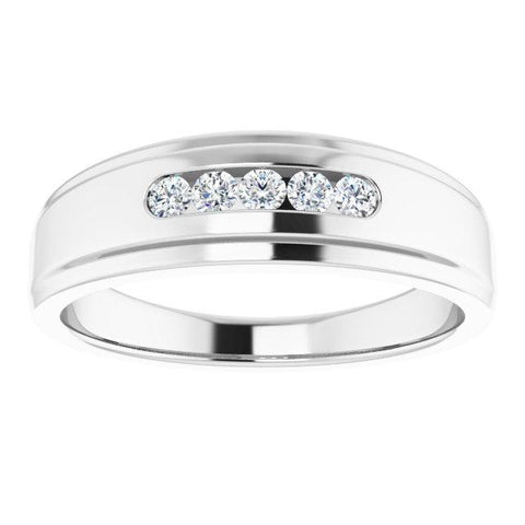 1/4 CTW Diamond 5-Stone Band - Moijey Fine Jewelry and Diamonds