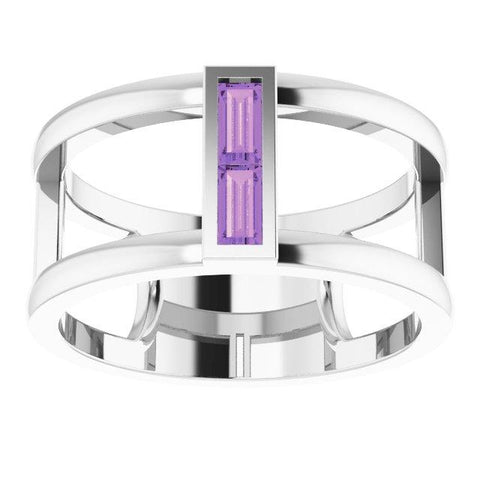 Amethyst Baguette Ring - Moijey Fine Jewelry and Diamonds