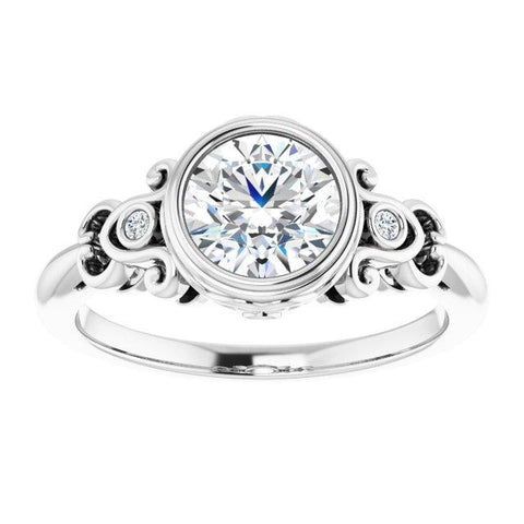 Intricately Rounded Engagement Ring Mounting - Moijey Fine Jewelry and Diamonds