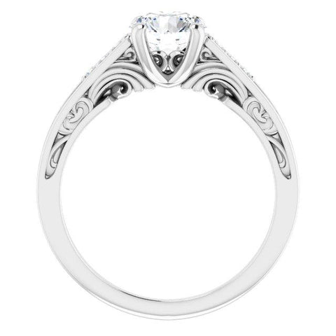 .05 CTW Diamond Semi-Set Engagement Ring
