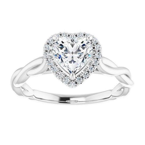 Infinite Heart Halo Engagement Ring - Moijey Fine Jewelry and Diamonds