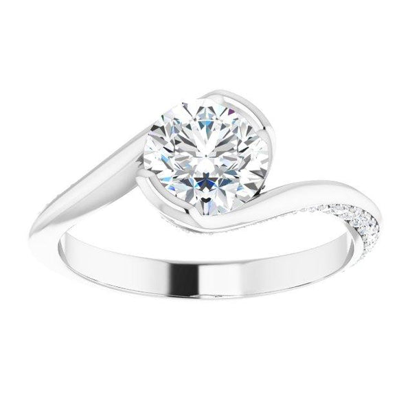 Round Modern Bypass Engagement Ring - Moijey Fine Jewelry and Diamonds