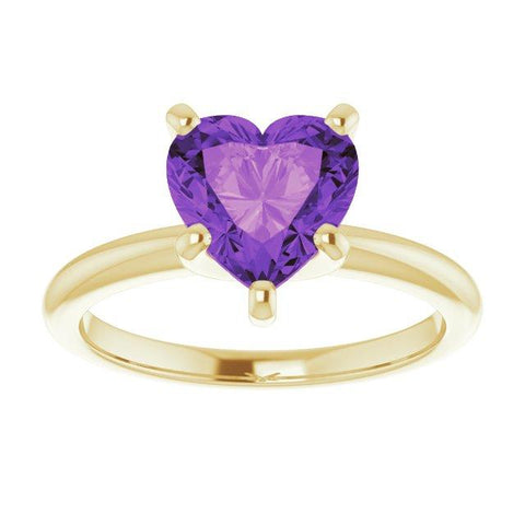 """The Heart of JJ"" Amethyst Ring"