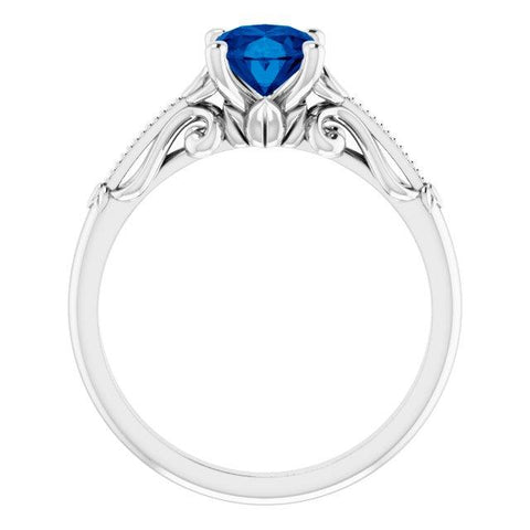 Oval Sculptural-Inspired Engagement Ring Setting