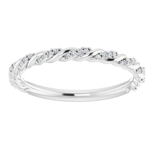 Pavé Twisted Anniversary Band - Moijey Fine Jewelry and Diamonds