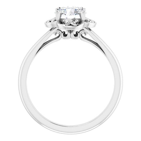 Round Filigree Solitaire Engagement Ring - Moijey Fine Jewelry and Diamonds