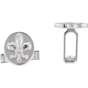 Fleur De Lis Cuff Links - Moijey Fine Jewelry and Diamonds