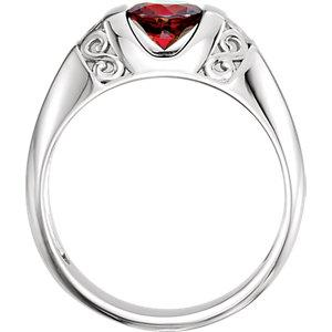 Men's Mozambique Garnet Ring - Moijey Fine Jewelry and Diamonds