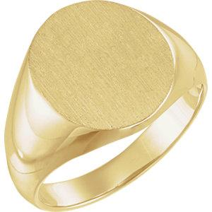 Solid Oval Men's Signet Ring - Moijey Fine Jewelry and Diamonds