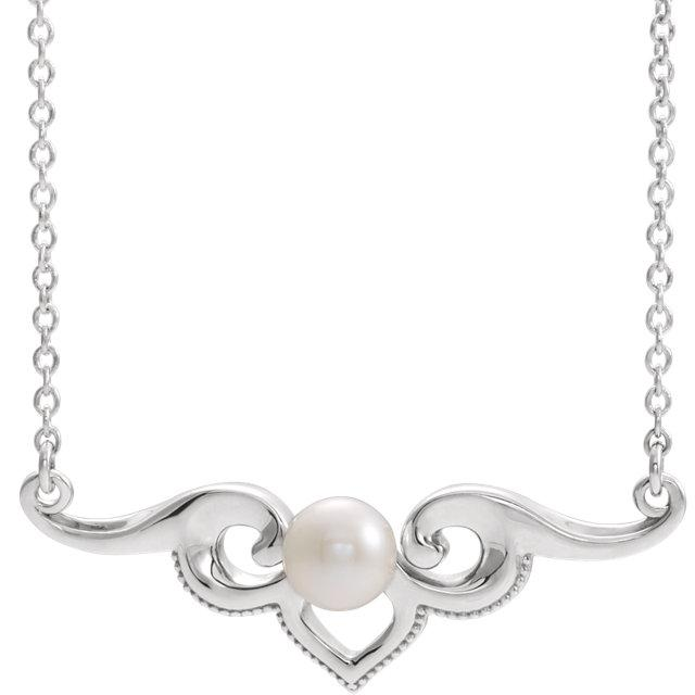 Freshwater Cultured Pearl Bar Necklace