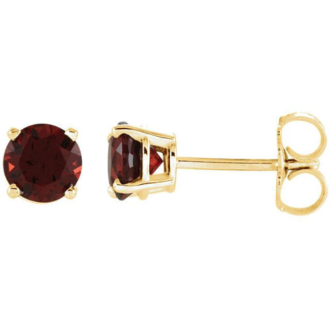 Lightweight Round Mozambique Garnet Earrings (5mm) - Moijey Fine Jewelry and Diamonds