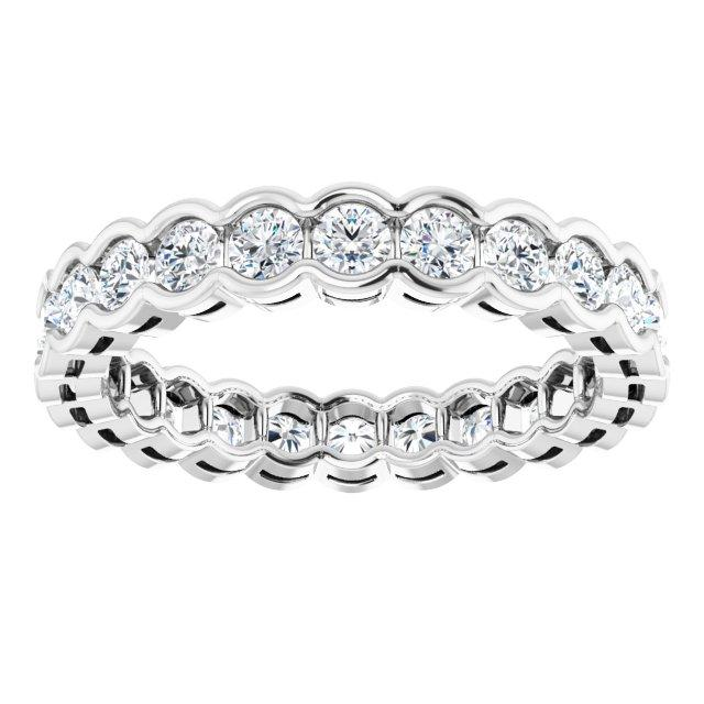 2.5 mm Round Eternity Band