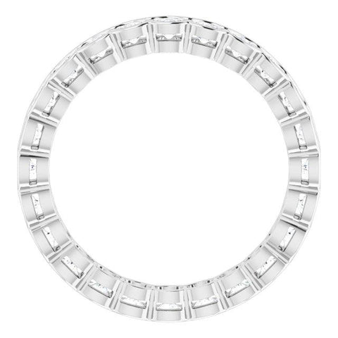 2.5 mm Round Eternity Band - Moijey Fine Jewelry and Diamonds