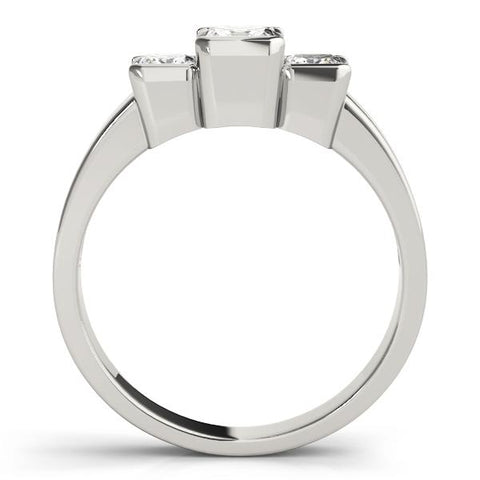 Modern Princess Three-Stone Engagement Ring Setting - Moijey Fine Jewelry and Diamonds
