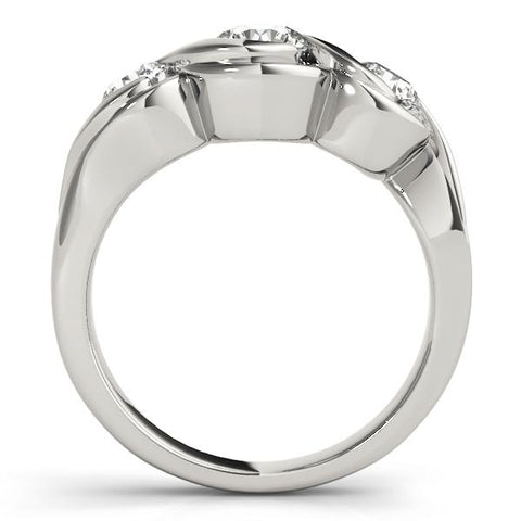 Infinity Three-Stone Engagement Ring Setting. - Moijey Fine Jewelry and Diamonds