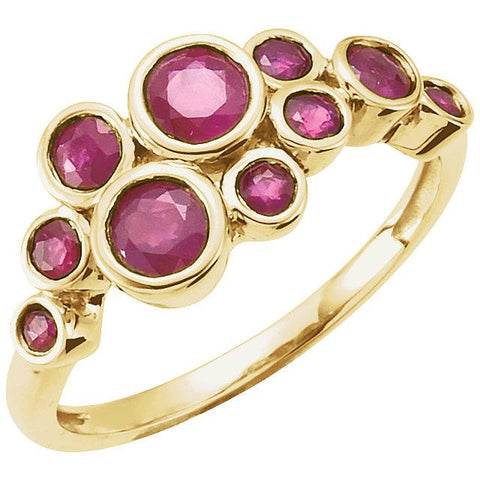 14K Yellow Gold  Bezel-Set Ruby Ring - Moijey Fine Jewelry and Diamonds
