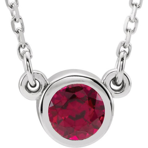 Ruby Bezel-Set 16-Inch Necklace - Moijey Fine Jewelry and Diamonds