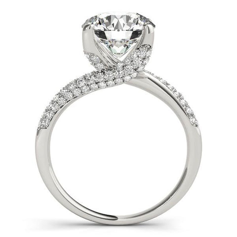 Dramatic Pave Twist Engagement Ring Setting - Moijey Fine Jewelry and Diamonds