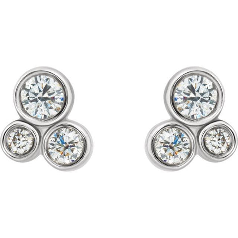 1/5 CTW Diamond Cluster Earrings - Moijey Fine Jewelry and Diamonds