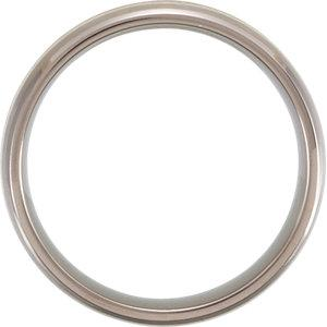 Titanium & Sterling Silver Inlay 7mm Satin Finish Band