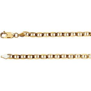 "14K Yellow 4.5mm Anchor 18"" Chain - Moijey Fine Jewelry and Diamonds"