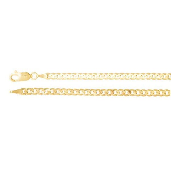 14kt Yellow Gold Solid Curb Chain 3.25mm - Moijey Fine Jewelry and Diamonds