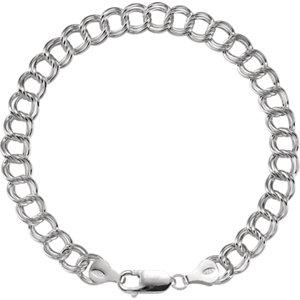 "Sterling Silver Charm 8"" Bracelet - Moijey Fine Jewelry and Diamonds"