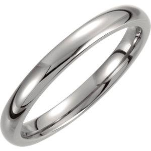 Titanium 3mm Domed Polished Band - Moijey Fine Jewelry and Diamonds